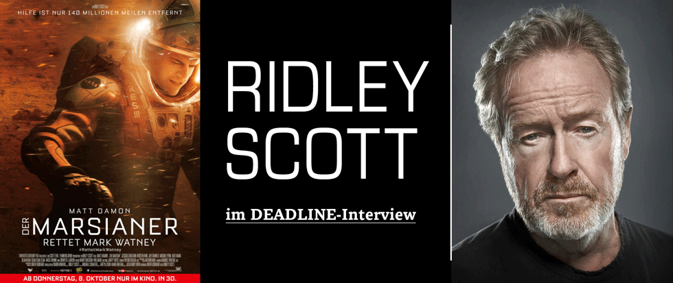 RIDLEY SCOTT IM DEADLINE-INTERVIEW