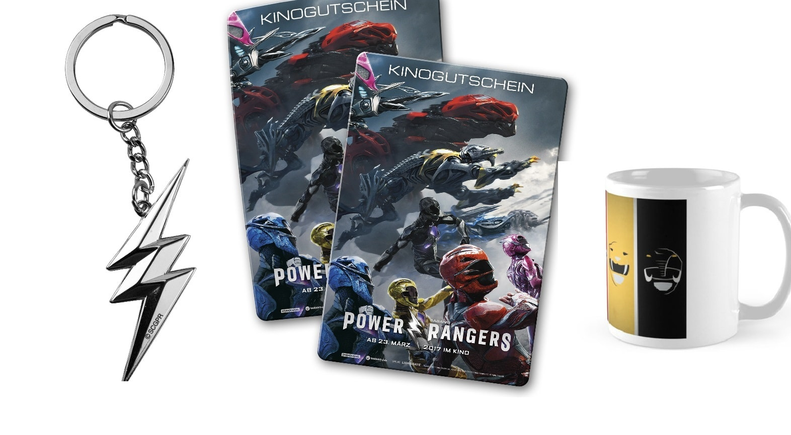 Power Rangers - Mockup - Kinogutschein