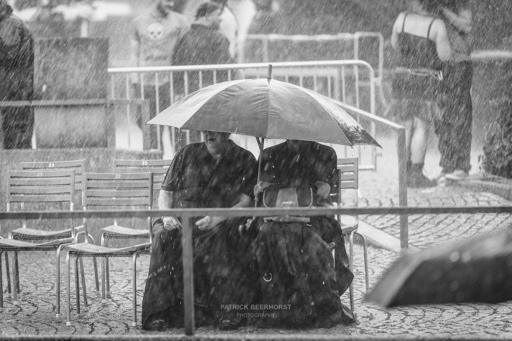 Kurz und kräftig kam der Regen.
