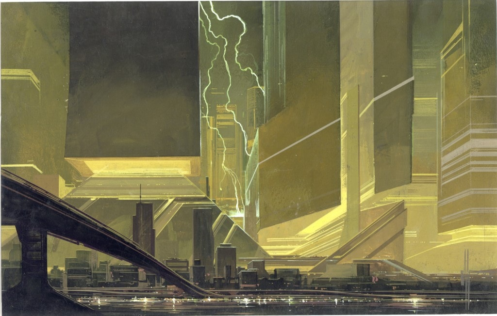 Cityscape-Lightening-copyright-Syd-Mead-1981