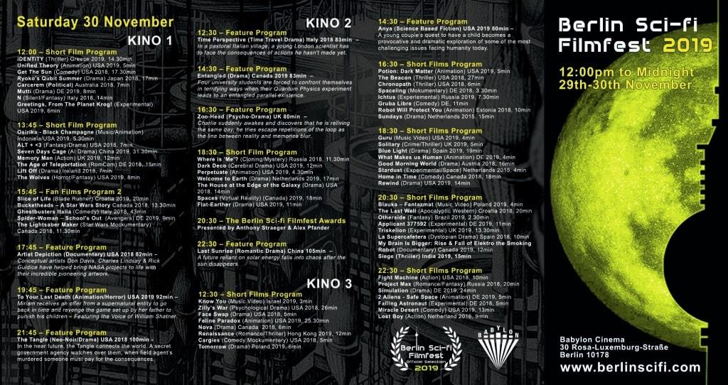 Berlin Sci Fi Filmfest - Samstag